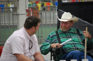 Couch ringside with Joe Horstman at the 2013 AJSA Eastern Regional Classic