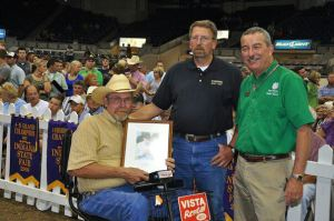 Bill with ASA Trustee Brian DeFreese at the 2009 Indiana State Fair after Bill was inducted into the Indiana Livestock Breeders Hall of Fame.