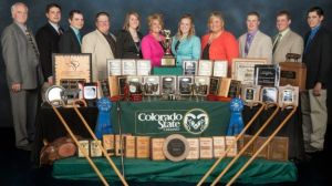 The Colorado State University Livestock Judging Team, crowned Reserve National Champion at the National Collegiate Livestock Judging Contest under coach, Shane Bedwell.