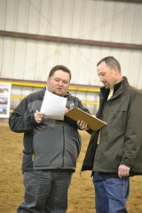 Rathmann with his associate, Jon DeClerck judging at the 2012 National Western Pen Show