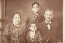 Carlos's grandparents pictured with Rafael and Arcadio as young boys