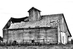 The old granary on McCoy's farm in Lafayette.