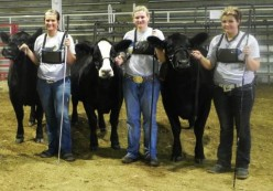 Barry's daughters, Carly, Courtney, and Bailey at the 2011 AJSA Eastern Regional.