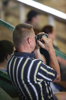 Dr. Swain capturing some special moments on video at the 2014 Eastern Regional