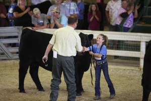 Thanks to the Eastern Regional fundraiser, juniors get the chance to present their cattle in front of world class livestock evaluators. Here, judge Chris Mullinix selects a winner at the 2014 show in Winston Salem, North Carolina